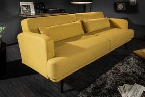 Ágyazható kanapé Annika, 214 cm, mustár