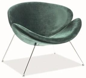 GENERAL Velvet fotel, 84x72x49, bluvel 78/króm