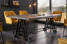 MAMMUT szürke akácfa étkezőasztal 220x100x77