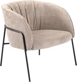 Stílusos fotel Namora - homok színű