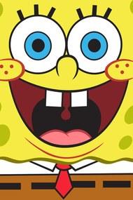 Spongebob gyermek törölköző sárga 30x50 cm