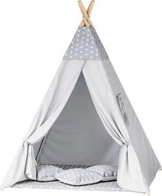 TP Teepee sátor - szürke csillagok