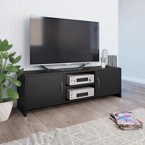 vidaXL fekete forgácslap TV-szekrény 120 x 30 x 37,5 cm