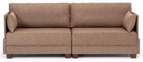 Fly Sofa barna háromszemélyes kanapé