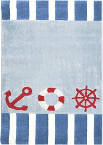 Tengerész gyerekszõnyeg kék – piros