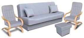 Megan garnitúra, ágynemű tartós bútor,   gr049 (világosszürke)