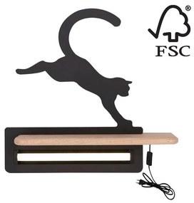 Candellux LED Gyerek fali lámpa polccal JUMPING CAT LED/5W/230V CA0431