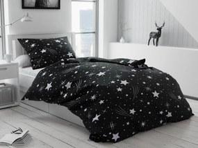 Éjjeli égbolt fekete pamut ágyneműhuzat