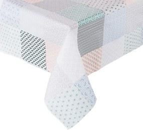 WATERPROOF lemosható asztalterítő, Patchwork 140x200 cm