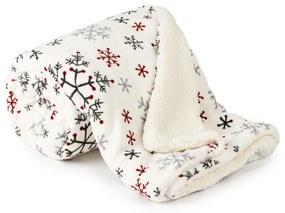 4Home Snowflakes bolyhos takaró, 150 x 200 cm