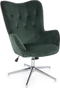 FARIDA zöld bársony fotel
