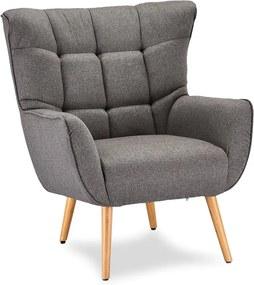 Luxus fotel Abbas szürke