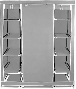 Mobil ruhásszekrény, 12 osztással, szürke