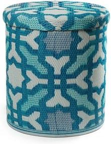 Seville Multicolor Blue türkiz kültéri puff tárolóhellyel - Fab Hab