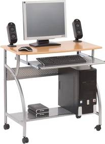 HAL-B6 számítógépasztal (görgős, fémvázas)