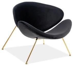 GENERAL Velvet fotel, 84x72x49, bluvel 19/arany