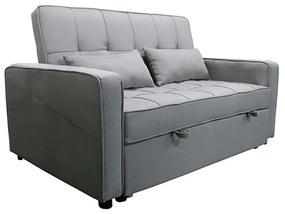Kinyitható kanapé, szürke, FRENKA NEW