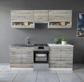 Tisza konyhabútor 210 cm Palatölgy