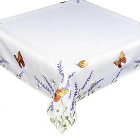 Pillangók és levendula abrosz, 35 x 35 cm, 35 x 35 cm