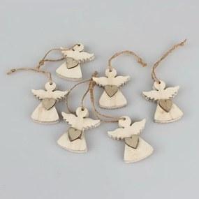 Edward 6 db-os angyal formájú felakasztható karácsonyi dekoráció szett - Dakls
