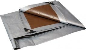 Takaró ponyva szürke - barna 2x3 m 210 g/m2