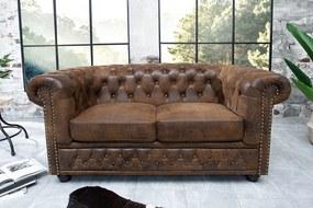 CHESTER design 2 személyes kanapé - antik kávé