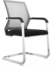 Konferencia szék, szürke/fekete, RIMALA