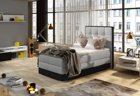 SABELLA boxspring kárpitozott ágy, 90x200, sawana 21/soft 11, balos