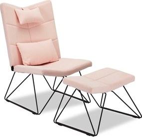 Relax fotel Abbott rózsaszín