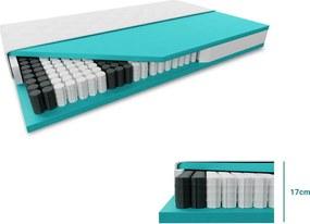 Táskarugós matrac SOMNIA 17 cm 90 x 200 cm Matracvédő: Matracvédő nélkül