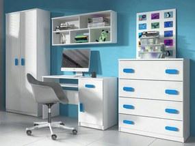 ID Svend szekrénysor - fehér, kék