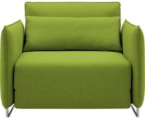 Cord limezöld kinyitható fotel - Softline