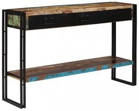 Tömör újrahasznosított fa tálalóasztal 120 x 30 x 76 cm