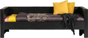 Dennis fekete borovi fenyő ágy/kanapé - WOOOD