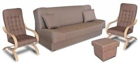 Megan garnitúra, ágynemű tartós bútor,   gr049 (világosbarna)