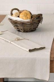 Home Design asztalközép díszszegélyekkel, bézs 160x50 cm