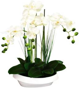 SmileHOME by Pepita Prémium élethű Művirág - Orchidea 60cm - fehér...