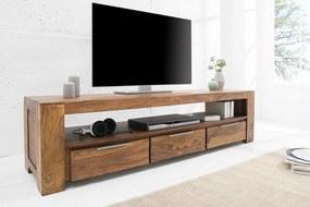 MAKASSAR III tömör rózsafa design TV szekrény