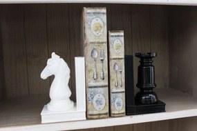 Fekete-fehér sakkbábu könyvtámaszok 2-es készlet