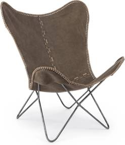 GAUCHO taupe pillangó fotel