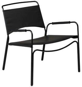 Paz fotel, fekete bőr