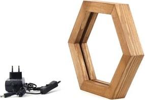 Honeybee asztali lámpa fából