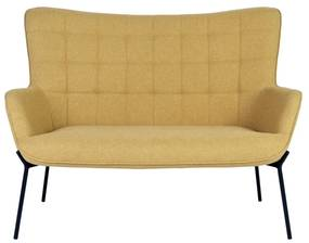 GLASGOW sárga szövet kanapé