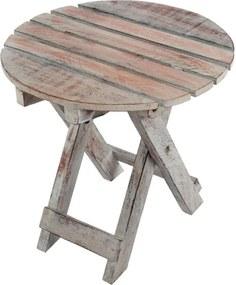 Kerti asztal összecsukható DIVERO Vintage Ø31 cm