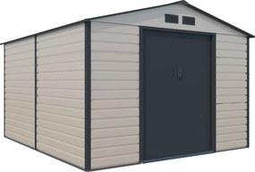 G21 GAH 884 - 277 x 319 cm-es kerti fém ház, bézs és szürke