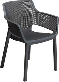 Elisa fémes szürke kerti szék - Keter