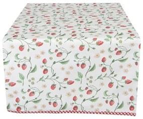 Eper mintás asztali futó, 50x140cm - Wild Strawberries - Clayre-Eef