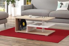 LINK sonoma tölgy / fehér, dohányzóasztal