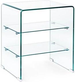 IRIDE üveg tálalószekrény 3 polccal 50x40