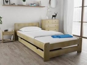 Laura ágy 120 x 200 cm, fenyőfa Ágyrács: Deszkás ágyráccsal, Matrac: Coco Maxi 23 cm matraccal